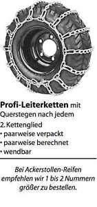 Schneekette Schneeketten Leiterketten Rasentraktor Aufsitzmäher Balkenmäher 2Stk