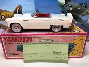 Tinplate 1956 Ford Thunderbird, Fifties Series Circa 1980's Made In Japan