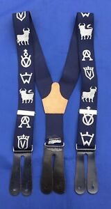 "Iconic Spanish Equestrian Andalucian ""Hacienda Logo"" Button On Braces"