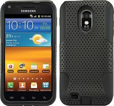 Samsung Galaxy S2 Epic 4G Touch D710 Sprint - HARD & SOFT RUBBER CASE BLACK MESH