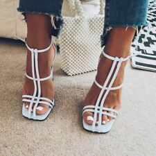 Topshop Romi Baby Pastel Blue Caged High Heel Sandals Shoes Size 5 38 Worn Once