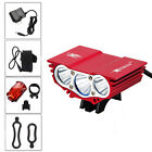 10000LM SolarStorm 3x XML T6 LED Bicycle Lamp Bike Light Headlight Cycling Torch