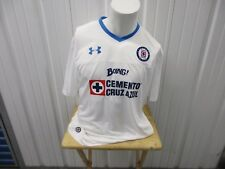 9a9df5bb UNDER ARMOUR DEPORTIVO CRUZ AZUL WHITE 2XL FITTED 2015-16 AWAY JERSEY KIT  NWT