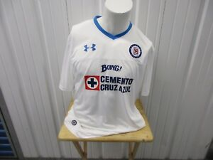UNDER ARMOUR DEPORTIVO CRUZ AZUL WHITE 2XL FITTED 2015-16 AWAY JERSEY KIT NWT