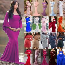 Pregnancy Women Maternity Maxi Dress Bodycon Party Photography Photo Shoot Sizes