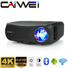 New listing Smart Native 1080p WiFi Projector 4K Video Beamer Android 6.0 Blue Tooth Hdmi Us