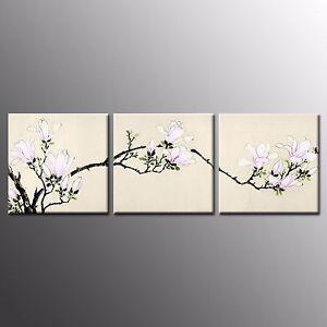 FRAMED HD Canvas Print Home Decor Magnolia  Wall Art Canvas Painting Print-3pcs