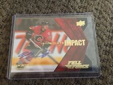 SAM BENNETT 2015/16 UD Full Force Immediate Impact Rookie Auto Calgary Flames