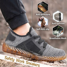 AtreGo Men Anti-puncture Ultra  Protection Shoes Hiking Steel Toe Boots Safty KK