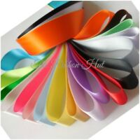 Double Satin Ribbon Bundle-8 x 1 Metre-25mm Wide-Mixed Assorted Colours