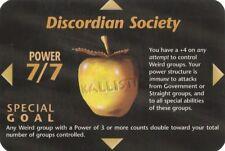 ILLUMINATI NEW WORLD ORDER SPECIAL CARD  DISCORDIAN SOCIETY