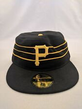 PITTSBURGH PIRATES HAT 7 1/2 FITTED NEW ERA PILLBOX VINTAGE THROWBACK 70's MLB