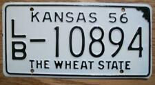 SINGLE KANSAS LICENSE PLATE - 1956 - LB-10894 - THE WHEAT STATE