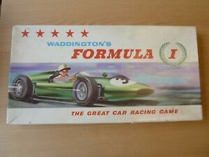 Vintage: Waddington Formula 1 Car Racing Board Game - 1962 - Nice Condition