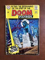 Doom Patrol #121 (1968) 3.0 GD DC Key Issue Silver Age Comic Book Death Issue
