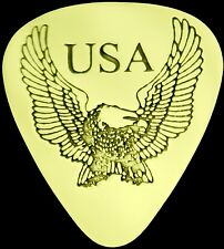 USA EAGLE - Solid Brass Guitar Pick, Acoustic, Electric, Bass
