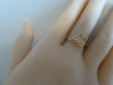 22k Gold ring (plated) Sizes 5, 6, 7  (Butterfly) Womens fashion jewellery/NWT
