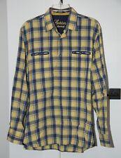 Luchiano Visconti Button Front Long Sleeve Shirt Men's Large Plaid EUC