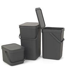 brabantia Müllsammler Grau Mülleimer Abfalleimer Komposteimer Wandeimer Sort+Go