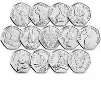 Beatrix Potter 50P 2016 2017 2018 2019 Puddle duck Peter Rabbit Cheap 50p Coins