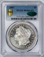 1887 Morgan PCGS MS66+PL *CAC-Verified* Cameo Prooflike Silver Dollar