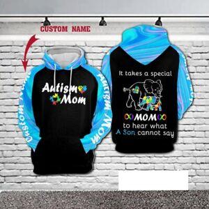 [Custom name] Special Mom 3D Hoodie Pullover Print Pattern Sweatshirt