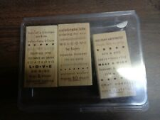 Stamin' Stampin' Up! (3)  Wooden/Rubber Blocks (So Many Sayings)  RETIRED (50)