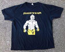 Rage Wear MMA Shirt & Shorts ~ Men's XL ~ Black White