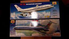 Zvezda Special Ilyushin Deal 2 IL Airliners 7001 & 7013 (IL 86 and IL 62M) 1/144