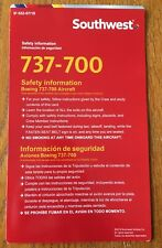 Southwest Airlines B737-700 Safety Card 2018 Edition Bilingual
