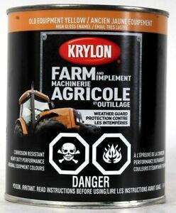 1 Can Krylon 32 Oz Farm & Implement 2042 Old Equipment Yellow High Gloss Enamel