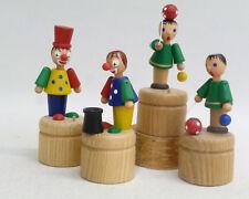 Wackelfiguren Clown und Ballspieler, 4St. sort.  Spielzeug aus dem Erzgebirge
