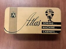 New ListingVintage Atlas Sewing Machine Tin and Accessories