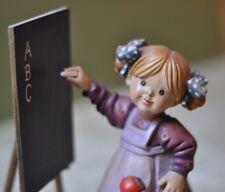 "Anri-Italy-""Head of the Class"" Sarah Kay 6"" Artist Proof- Girl w/ chalkboard"