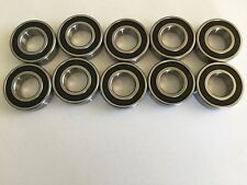 10 pcs 1614 2RS double rubber sealed ball bearing, 3/8x 1-1/8x 3/8 inch