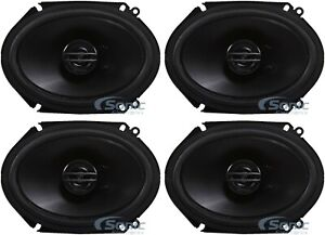"4) Pioneer TS-G6820S 500W Max 6x8"" G-Series 2-Way Coaxial Car Audio Speakers"