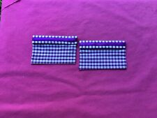 "2 purple gingham  dolls house blinds 3.5"" x 2.25"""
