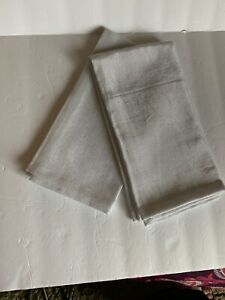 2 Pier 1  White and Silver Napkins New