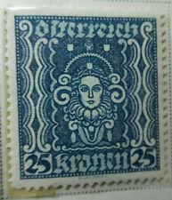Austria 1922-24 Stamp 25 Kronen MNH Stamp StampBook1-12