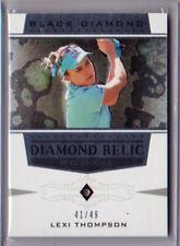 New listing 2021 UD Artifacts Golf LEXI THOMPSON BLACK DIAMOND SINGLE DIAMOND RELIC /49!