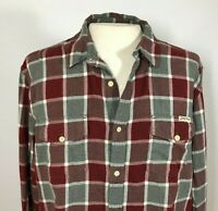 Lucky Brand Mens XL Flannel Shirt Long Sleeve Plaid Red & Gray