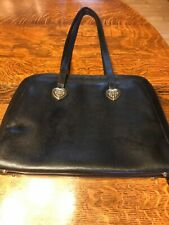 """Coldwater Creek Black Faux Leather Briefcase 12"""" x 16""""-3480"""