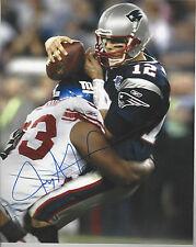 New York Giants Jay Alford autographed 8x10 photo sacking NE Tom Brady in SB