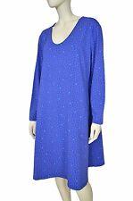 GUDRUN SJODEN Dress Tunic Floral Boho Folk Organic Cotton Size XL