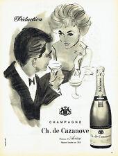 Publicité Advertising 028  1959   champagne Ch. de Cazeneuve chateau d'Avize