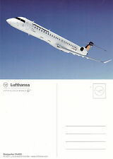 LUFTHANSA AIRLINES BOMBARDIER CRJ 900 ADVERTISING UNUSED COLOUR POSTCARD