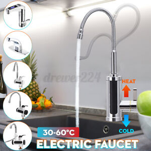 3KW Instant Hot Water Tap Electric Faucet Heater Kitchen Temperature Display New