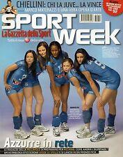 Sport Week.Nazionale di Pallavolo,Giorgio Chiellini,Alex Rodriguez,Hervé Touré,i