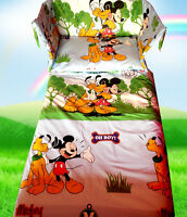 Disney Mickey Mouse Pluto -Baby Blue- Cot/Crib BEDDING SET - All sizes available