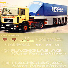 1:87 Camion decalcomania,AUTOCARRO DECALCOMANIA - Man - PIASTRA VETRO - H.WINNEN